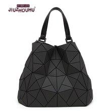 Geometrischen laser schulter handtasche frauen großen Europäischen stil leucht großen kleine taschen mode-frauen hand umhängetasche