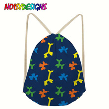 NOISYDESIGNS Balloon Dogs Print School Bag Drawstring Bags Girls Boys Bagpack Mini Backpack Female Satchel Female Rope Custom