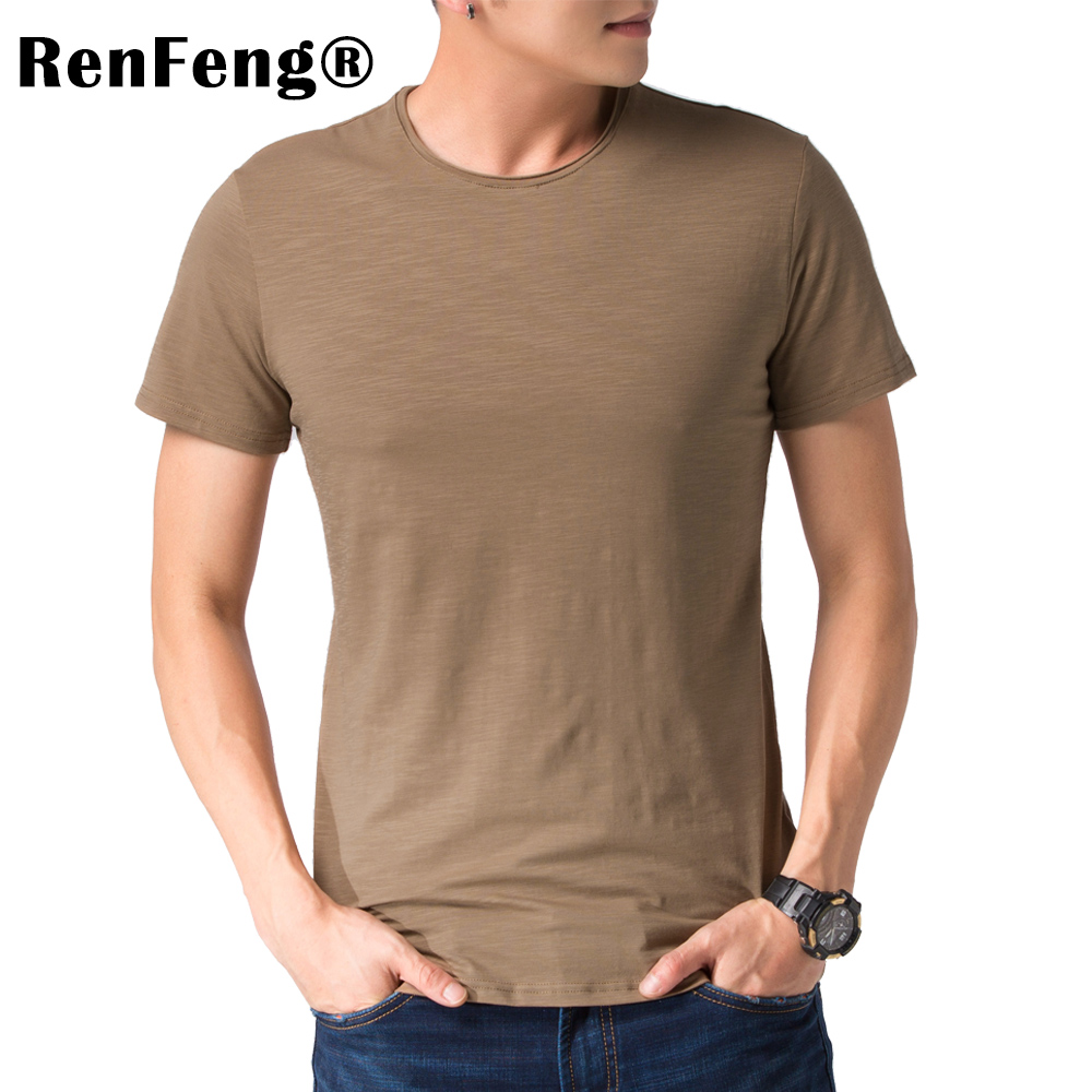 Brand 2018 Hot Sale New Men Clothing T shirt Summer Short Sleeve Curled V-neck Casual Slim Tops Tees Under shirt Free Shipping (1)