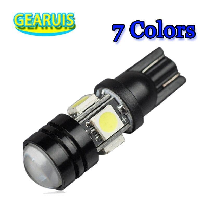 100X T10 LED W5W Light Bulbs 5050 SMD Lens 4 LED Eagle eye 1W 12V Parking
