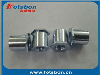 SOA-M6-12, Thru-hole Threaded Standoffs,aluminium 6061,nature, PEM standard,made in china, in stock.