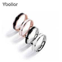цена Simple Design Hoop Titanium Stainless Steel Ring For Men Women Couple Anniversary Wedding Band Ring Jewelry US Size 3-10# онлайн в 2017 году