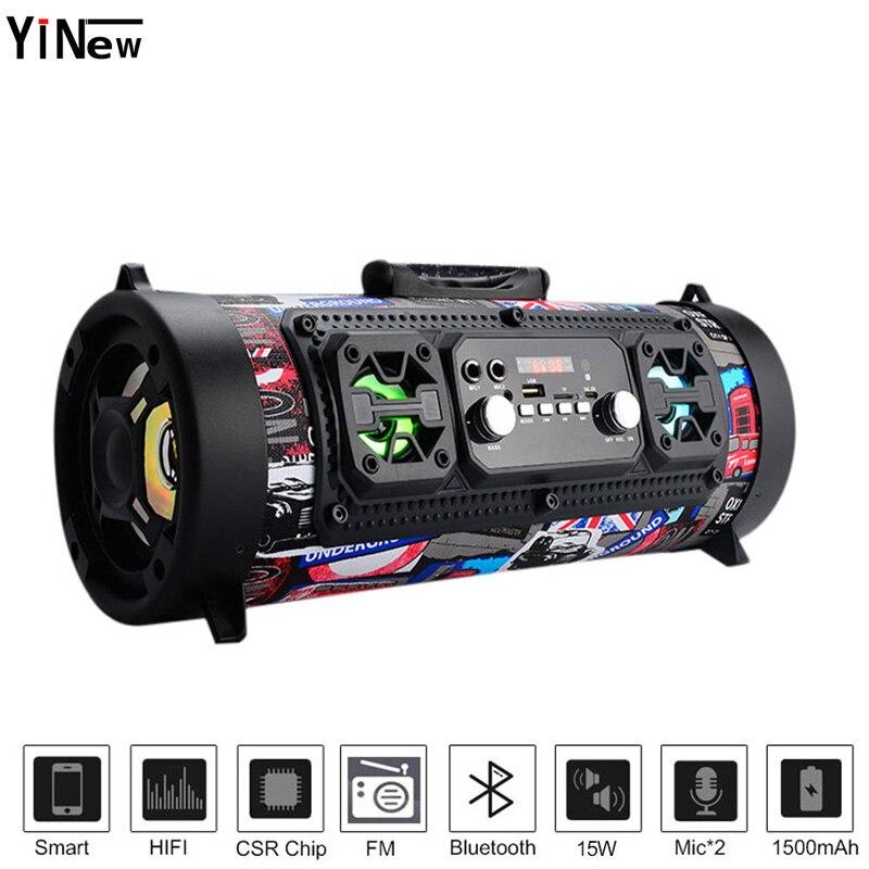 Hifi Portable music column wireless Bluetooth Speaker FM Radio Move KTV 3D Sound bar system mp4 palyer subwoofer outdoor speaker(China)