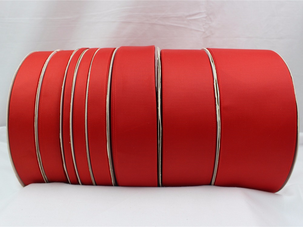 16609-0026,(6,10,15,20,25,38,<font><b>50</b></font>,75mm) 10yard/lot Red Ribbons Printed grosgrain Wedding Accessories DIY handmade materials Gift image