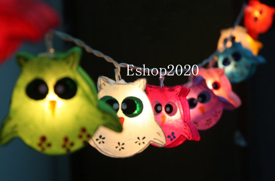Cute Owl Paper Lanterns 3m Child Birthday Gift Decorative Lighting Christmas Lamp Free Shipping Home Decoration Light