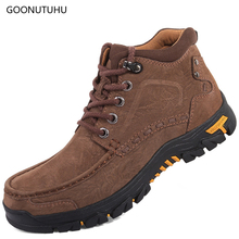 2019 spring & winter men's boots casual shoes genuine leather cow big size 38-47 military boot work shoe man ankle boots for men цены онлайн