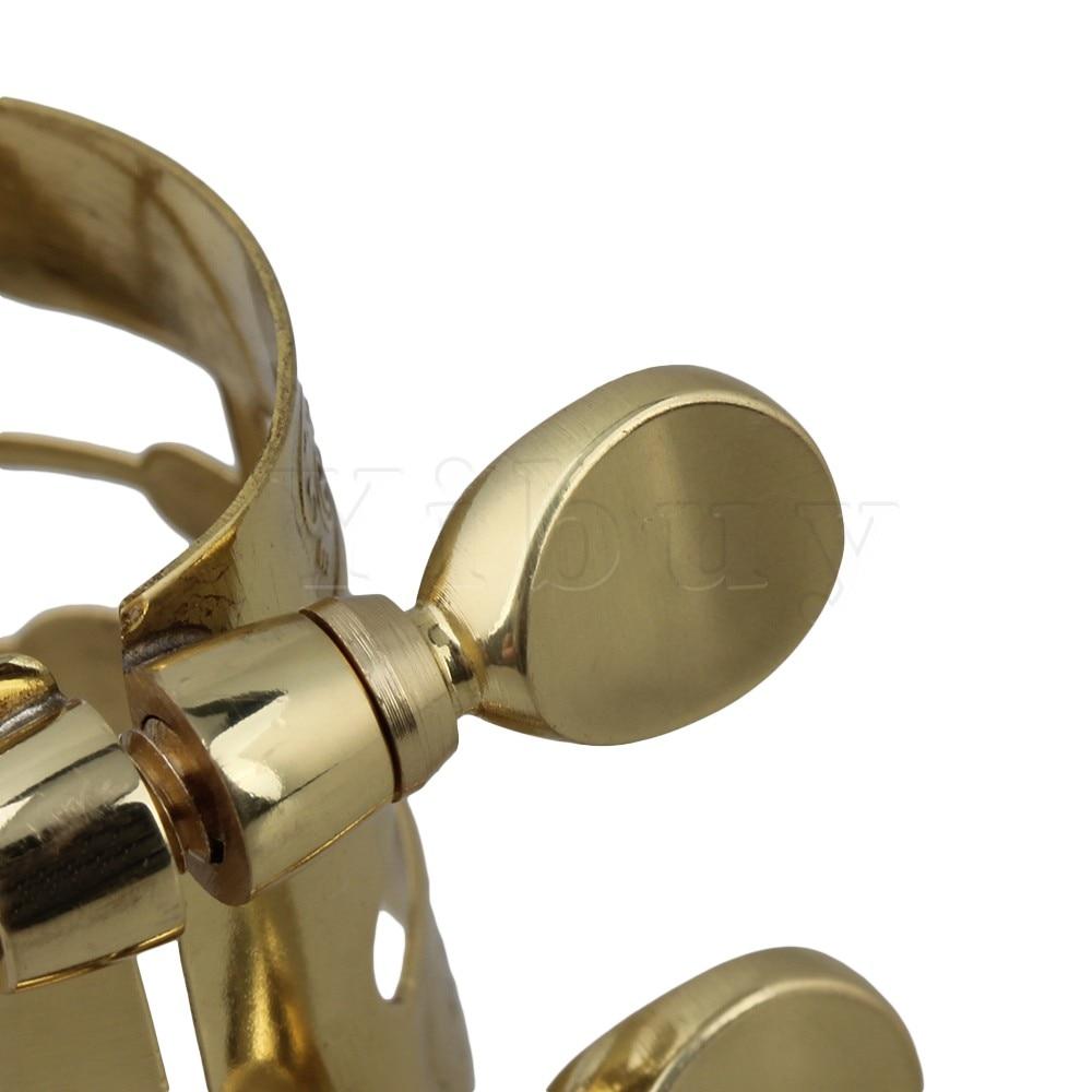 Yibuy Gold Plated Alto Saxophone Boquilla Ligadura Flexibilidad - Instrumentos musicales - foto 4