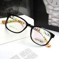 2016 NUEVA Ronda Marcos de Los Vidrios Ópticos Eyewear Marco Grande Gafas TR 90 Flexible para Niñas y Niños