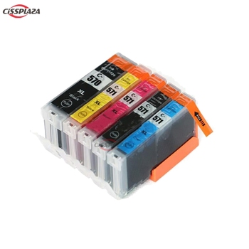 CISSPLAZA 5PCS PGI570 CLI571 compatible ink cartridges for Canon MG5750 MG5751 MG5752 MG5753 MG6850 MG6851 MG6852 MG6853