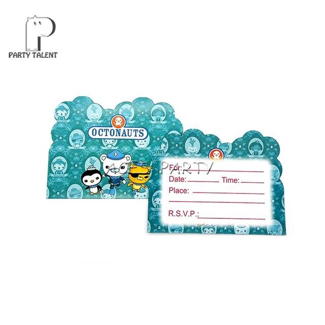 Party Supplies 8pcs Octonauts Theme Invitation Card Invitations For