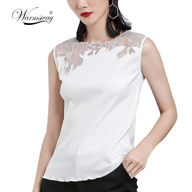 Lace Short Top Women Rib Tank Top 2018 Sexy T-shirts Women Blusa Hollow Out Lace Tee Shirts Femme Camisole Vest Camis A-024