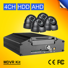 4CH Video/Audio Input 720P HD AHD Hard Disk HDD Car Mobile Dvr Kits With 4Pcs Plastic Dom Vehicle Car Cameras