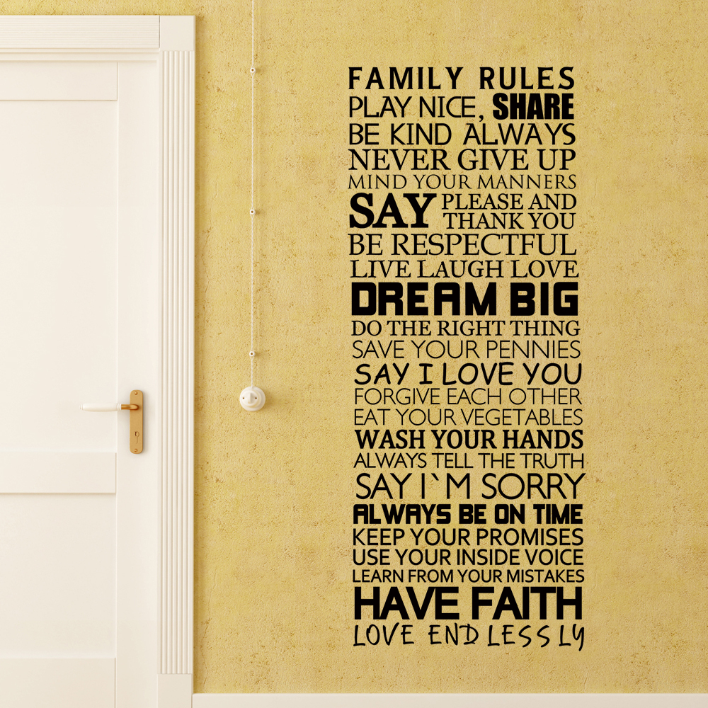Family Rules Share, Live, Laugh, Love, Be Kind Always House Rules ...