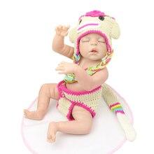 22 Inch Newborn Dolls Sleeping 55cm/22Inch Full Silicone Vinyl Reborn Babies Christmas Gift New Year Gift