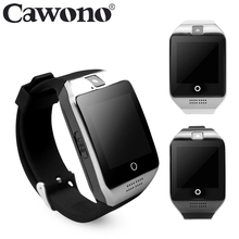 Cawono Bluetooth Q18 Fitness Tracker Smart Watch Smartwatch Relogio Watch Camera for IOS Apple Huawei Android Phones PK DZ09 Y1