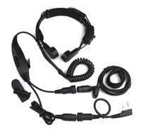 2 Pin VOX Throat Vibration MIC for KENWOOD WOUXUN HYT TYT BAOFENG UV5R Radio