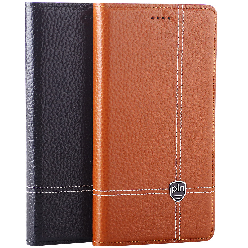Cowhide Cover For Samsung Galaxy Note 2 3 Lite 4 5 7 Edge Flip Stand High Quality Magnet Genuine Leather Phone Case + Free Gift