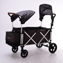 Twin Stroller 360 Degree Omni-directional Wheels Double Pram Baby Lightweight Easy To Carry