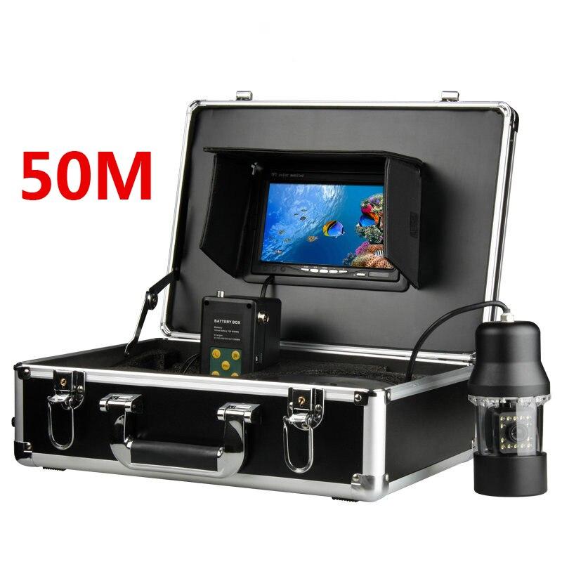 7 TFT Moniteur 50 M Câble 360 degrés tournent Caméra Sous-Marine, Pêche Sous-Marine Caméra moniteur couleur poissons poissons finder