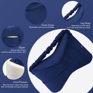 Image 5 - Memory Foam Knee Pillow Leg Cushions Side Sleeper Body Pillows Travel Under Knee Sleeping Gear Sciatica Pain Relief Back Support