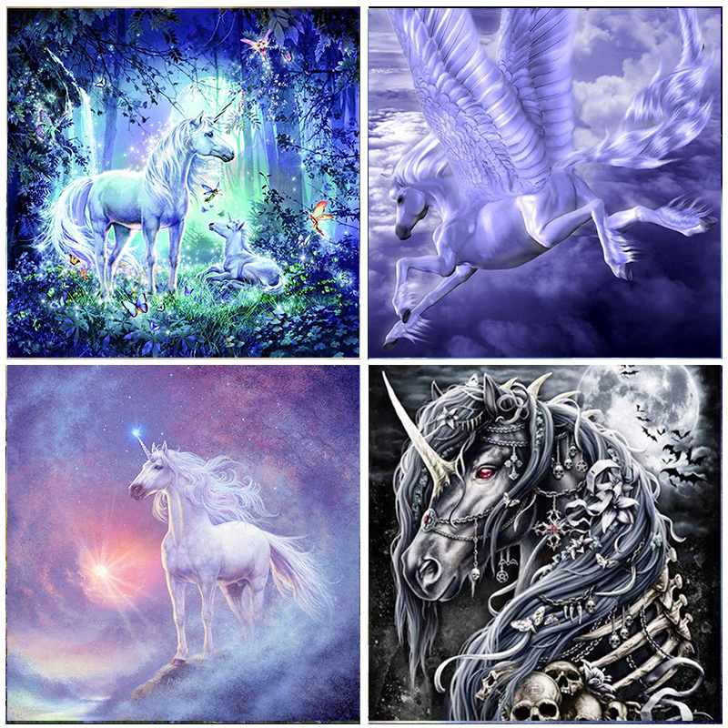 5D Diamond Painting Unicorn Full Round Drill Embroidery 3D DIY Animal Home Decoration Mosaic Crystal Cross Stitch Handmade Gifts(China)