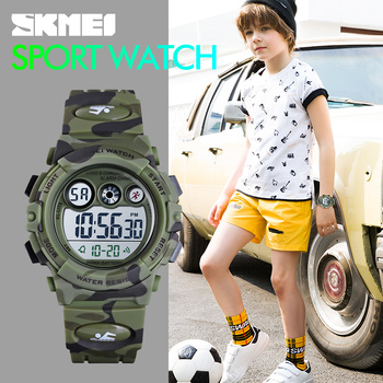 SKMEI Sport Kids Watches Young And Energetic Dial Design 50M Waterproof Colorful LED+EL Lights relogio infantil 1547 Children's - discount item  38% OFF Children's Watches