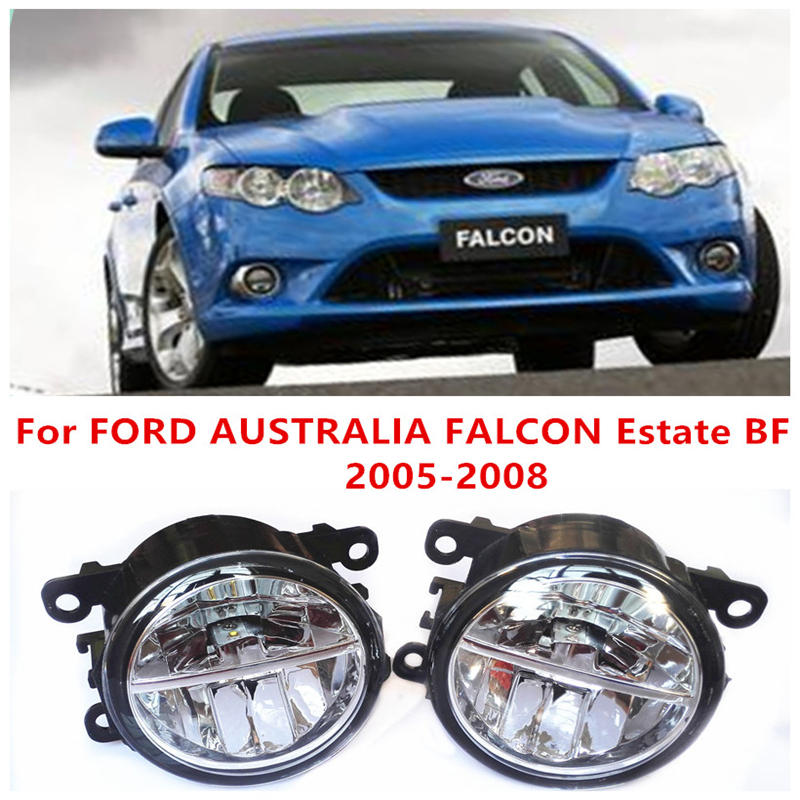 ФОТО For FORD AUSTRALIA FALCON Estate BF 2005-2008 Fog Lamps LED Car Styling 10W Yellow White 2016 new lights