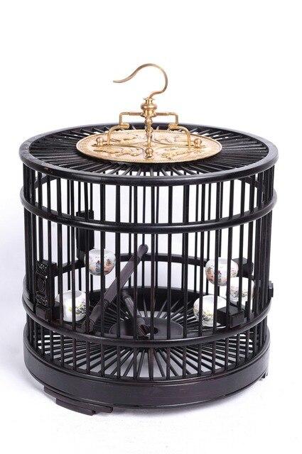 ébène rouge rose cage en bois animal oiseau produits fournitures nid maison décoration artisanat palissandre chinois