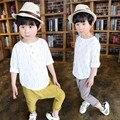DFXD Nueva Primavera Muchachos de la Ropa de Algodón Ocasional de Impresión de Manga Larga camisa Harem Pant 2 unid Fijado Niño Niños Ropa Niños Set 18 M-6 T