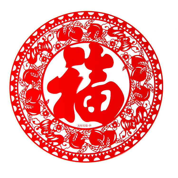 chinese new year festive electrostatic sticker with