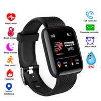 Intelligente della vigilanza Donne Degli Uomini di Pressione Sanguigna Monitor di Frequenza Cardiaca Impermeabile Inseguitore di Fitness Pedometro Braccialetto Smartwatch D13 116 plus