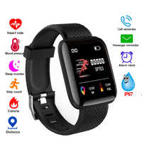 Smart uhr Männer Frauen Blutdruck Herz Rate Monitor Wasserdichte Fitness Tracker Pedometer Armband Smartwatch D13 116 plus