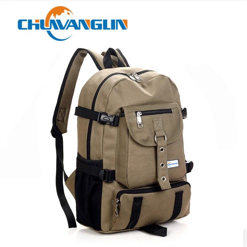 New backpack men Fashion strap zipper solid casual bag male backpack school bag canvas bag designer