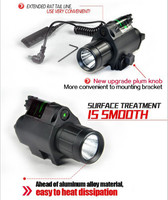Outdoor 2in1 Combo Tactical CREE Q5 LED Flashlight LIGHT 200LM Green Laser Sight For Pistol Glock
