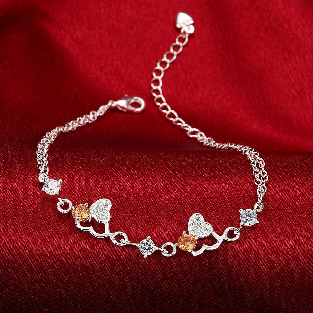 Heart Bracelets for Women Braslet AAA Zircons Bracelet Femme Bijou Pulseras Mujer Pulseira Bracciali Donna Armband Bileklik H009
