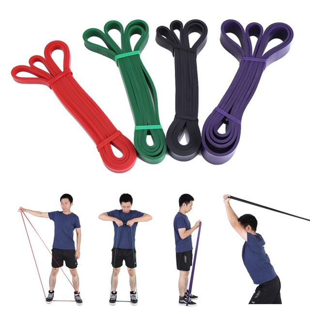 VBESTLIFE Nature Pure Latex resistance bands power strength loop pull up fitness