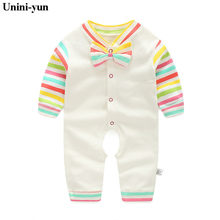 a8ea68f2d4c52 Unini-yun Baby Rompers Long Sleeves Baby Clothing Boys Girls Clothes Roupas  Infantils Menino Newborn