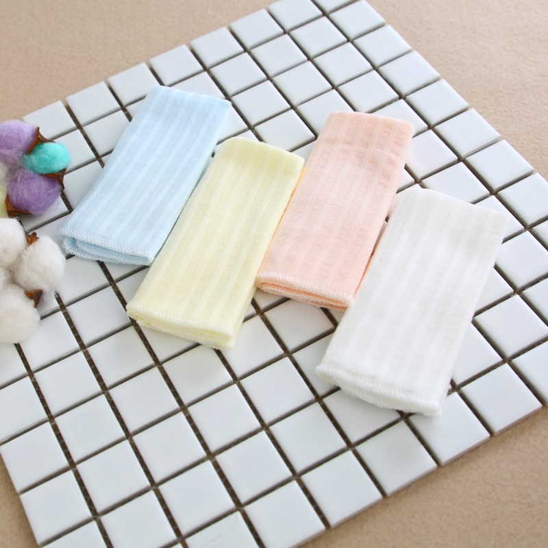 4pcs/lot Cotton Baby Handkerchief Double Gauze Square Towel Breathable Pocket Face Hand Bathing Towel Bibs 22*22cm Mixed Color