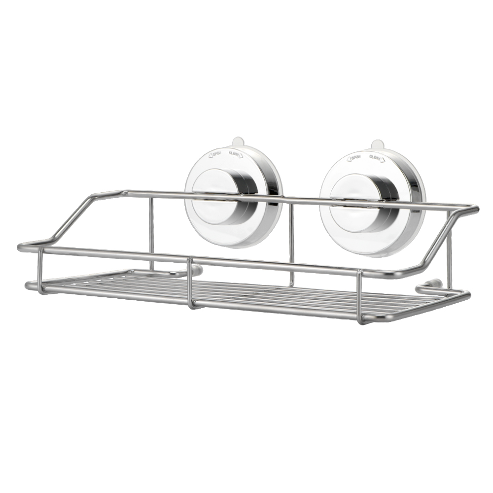 Stainless Steel Bathroom shelves Strong Lock Suction Shower Shelf ...