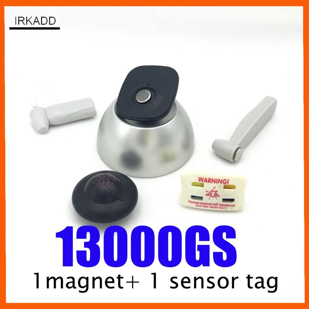 magnetische sensor tag ontkoppelaar 13000GS eas super lock winkeldiefstal alarmsysteem RF8.2Mhz en 58Khz eas-systemen w / 1 praktijk tag