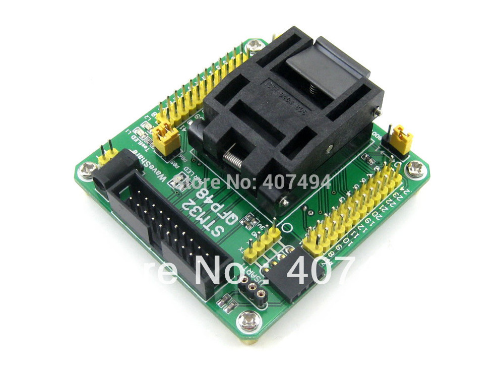 Modules STM32-QFP48 QFP48 LQFP48 STM32F10xC STM32L15xC Yamaichi STM32 IC Test Socket Programming Adapter 0.5mm Pitch w5500 lqfp 48