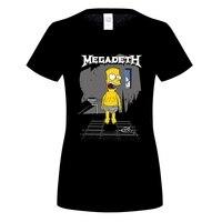 GILDAN Megadeth T Shirt Women Summer Harajuku Cotton Tee Shirt Homme Brand Hip Hop Tops Drake