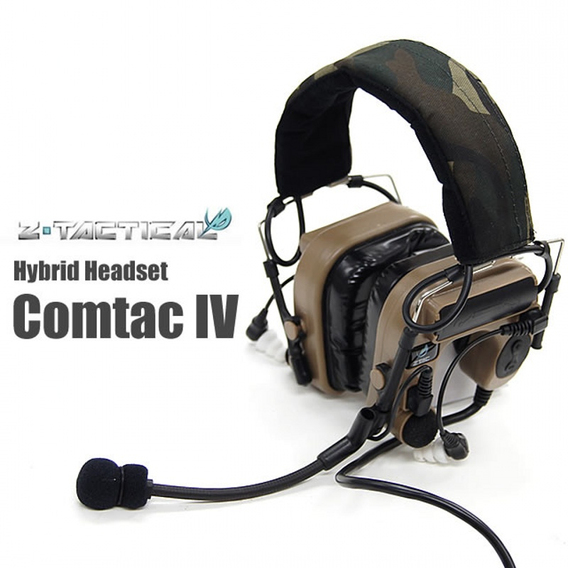 Z-Tactical Comtac IV IN-THE-EAR Noise Reduction Headset Tactical Military Hunting Wargame Airsoft Headphone Z038 DE