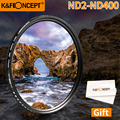 K & F концепция ND нейтральной плотности регулятор яркости ND2-ND400 Камера фильтр объектива 52/58/62/67/72/77/47/43 мм для Canon Nikon sony DSLR