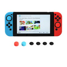 11 in 1 Silicone Case for Nintend Switch NS Console Protective Skin Cover with Stick Grip Caps for JoyCon ivyueen 5 in 1 for nintend switch ns console handle grip protective cover with 4 thumb stick caps case for joy con controller
