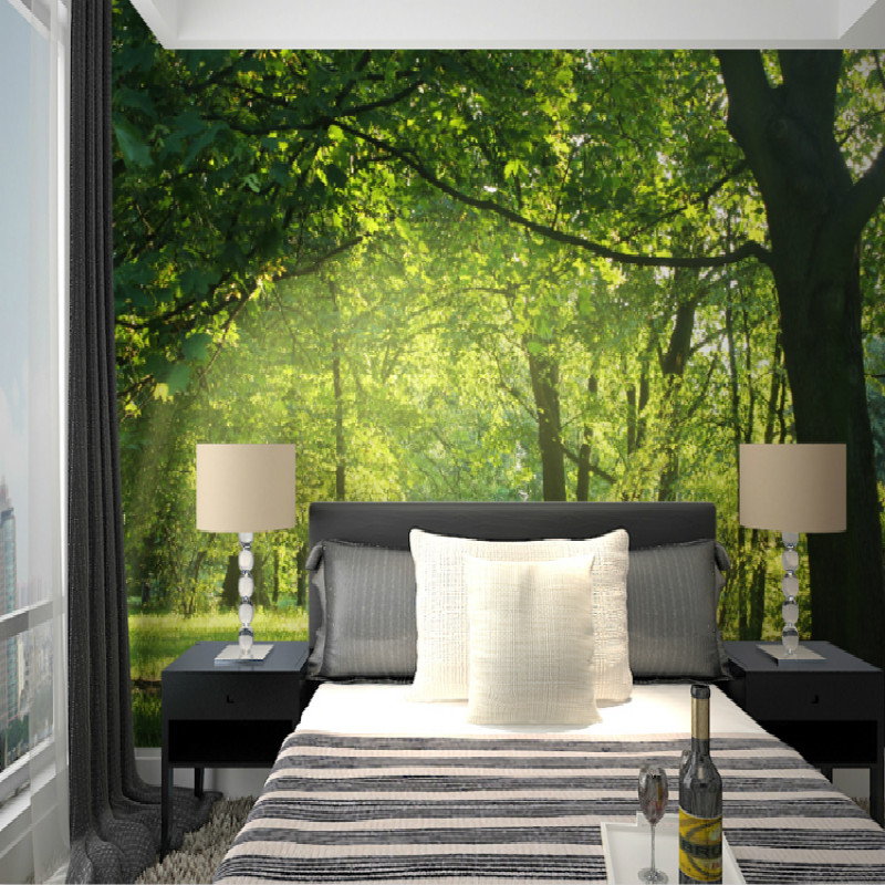 Photo 3D Wallpaper For Wall 3d Mural Wallpaper Forest Garden Living Room  Modern Background TV Setting Wall Large Mural Bedroom  In Wallpapers From  Home ... Part 62
