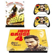 Just Cause 4 Faceplates Skin Console & Controller Decal Stickers for Xbox One X Console + Controller Skin Sticker(China)