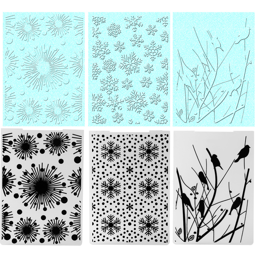 New stylish christmas plastic embossing stencils folder for Decor 6 template