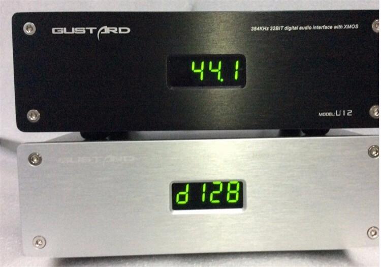 2016 Brand New GUSTARD U12 XMOS USB DAC Digital Audio Interface AESEBUCoaxialHDMI 0.1PPM Support 32Bit384KHZ DSD64DSD128 4
