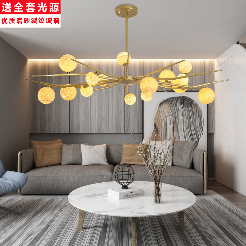 Ceiling Lights & Fans Obliging Modern Led Chandeliers Lighting Nordic Deco Luminaires Glass Ball Fixture Living Room Hanging Lights Bedroom Suspended Lamps